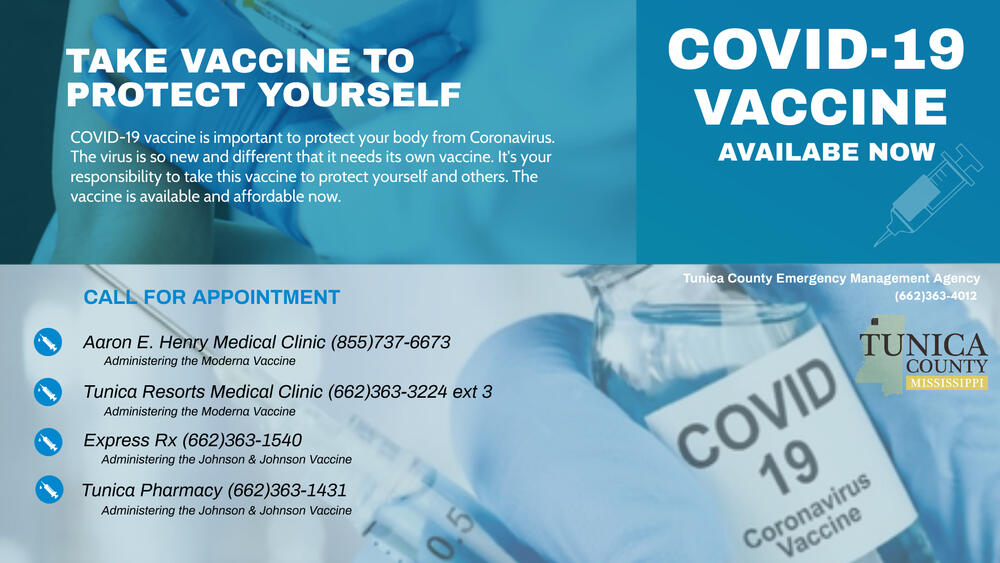 Vaccine Flyer for Tunica County